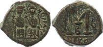 Bisanzio  Follis, Justin II and Sophia (565-578) - Nicomedia Year G