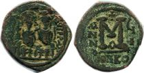Bisanzio  Follis, Justin II and Sophia (565-578) - Nicomedia Year GI