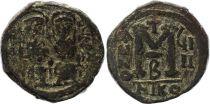 Bisanzio  Follis, Justin II and Sophia (565-578) - Nicomedia Year GIII
