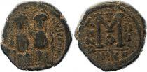 Bisanzio  Follis, Justin II and Sophia (565-578) - Nicomedia Year III