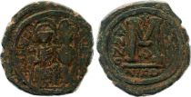 Bisanzio  Follis, Justin II and Sophia (565-578) - Nicomedia Year X