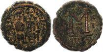 Bisanzio  Follis, Justin II and Sophia (565-578) - Nicomedia Year XI