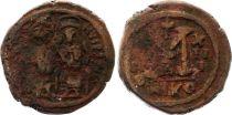 Bisanzio  Follis, Justin II and Sophia (565-578) - Nicomedia Year XIII