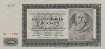 Bohéme et Moravie 1000 Korun - Peter Parler - 1942 série  Ca