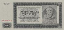Bohéme et Moravie 1000 Korun - Peter Parler - 1942 série  Ea