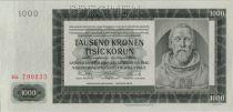Bohéme et Moravie 1000 Korun 1942 Peter Parler Spécimen