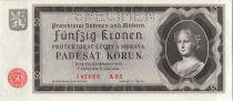 Bohéme et Moravie 50 Korun 1940 Femme, spécimen