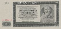 Bohemia and Moravia 1000 Korun - Peter Parler - 1942 Specimen