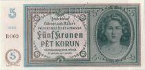 Bohemia and Moravia 5 Korun ND1940 Woman, Spécimen