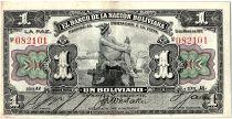Bolivia 1 Boliviano, Mercury  -  1911