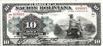 Bolivia 10 Bolivianos,  Mercury -  1911