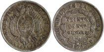 Bolivia 20 Centavos Arms - Denomination within wreath