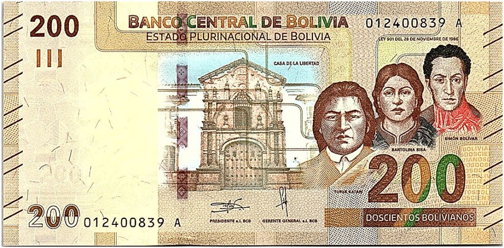 Bolivia 200 Bolivianos Heroes - ND (2019) - UNC