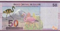 Bolivia 50 Bolivianos  Bolivian Heroes  - Flamingo - ND (2018)