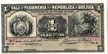Bolivie 1 Boliviano, Forêt Tropicale - 1902