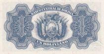 Bolivie 1 Boliviano, Simon Bolivar -  1928