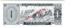 Bolivie 1 Peso Boliviano Boliviano, Paysan - Récolte