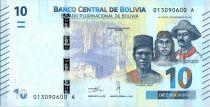 Bolivie 10 Bolivianos Héroes Boliviens - Colibri géant - ND (2018)