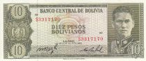 Bolivie 10 Pesos Bolivianos, G. Busch Becerra - Montagne de Potosí - 1962