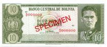 Bolivie 10 Pesos Bolivianos Bolivianos, G. Busch Becerra - Montagne