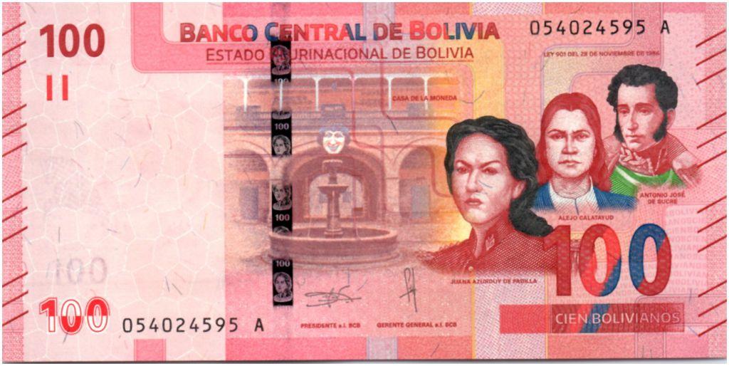 Bolivie 100 Bolivianos Héros Boliviens -Perroquets  - ND (2019) - Neuf