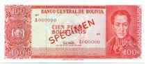 Bolivie 100 Pesos Bolivianos Bolivianos, Simon Bolivar - Déclaration Indépendance