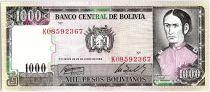 Bolivie 1000 Pesos Bolivianos, Juana Azurduy de Padilla -  1982