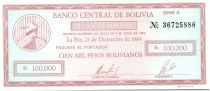 Bolivie 100000 Pesos Bolivianos Bolivianos, Mercure - 1984