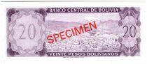 Bolivie 20 Boliviano Murillo - Vue de La Paz