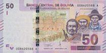 Bolivie 50 Bolivianos Héros Boliviens - Flamant rose  - ND (2018)