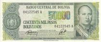 Bolivie 50000 Pesos Bolivianos , G. V. Lopez - Raffinerie - 1984