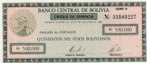 Bolivie 500000 Pesos Bolivianos Bolivianos, Mercure (chèque) - 1984