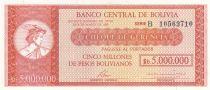 Bolivie 500000 Pesos Mercure (chèque) - 1985