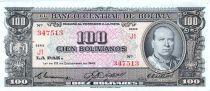 Bolivien 100 Bolivianos, G. Villarroel - Refinery - 1945 - Serial J1