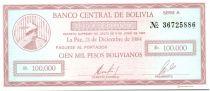Bolivien 100000 Pesos Bolivianos Bolivianos, Mercury (check) - 1984