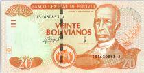 Bolivien 20 Pesos Bolivianos, Pantaleon Dalence, Casa Dorada - ND (2015)