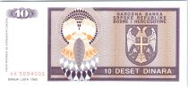 Bosnia-Herzegovina 10 Dinara Eagle with 2 heads - 1992