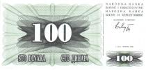 Bosnia-Herzegovina 100 Dinara Arms - 1992
