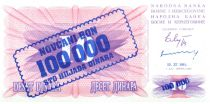 Bosnia-Herzegovina 100.000 Dinara - Mostar bridge - 1993