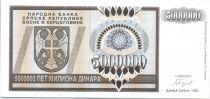 Bosnia-Herzegovina 5 Million de Dinara de Dinara, Eagle with 2 heads - 1993