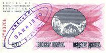 Bosnia-Herzegovina 50 Dinara Mostar bridge -1992 - UN CIV POL