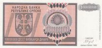 Bosnie-Herzégovine 1 000 000 000 Dinara 1993 - Armoiries - Rép serbe de Bosnie - Série A