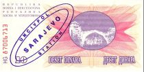 Bosnie-Herzégovine 10 Dinara  Pont de Mostar - 1992 - UN CIV POL