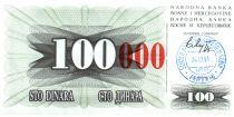 Bosnie-Herzégovine 100 Dinara - Armoirie - Travnik - 1993