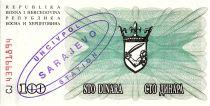 Bosnie-Herzégovine 100 Dinara  Armoiries - 1992 - UN CIV POL