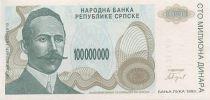 Bosnie-Herzégovine 100 Million de Dinara de Dinara, P. Kocic - 1993