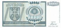 Bosnie-Herzégovine 10000 Dinara 1992 - Aigle à 2 têtes - P.139 - Neuf