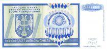 Bosnie-Herzégovine 10.000.000 Dinara - Armoiries - Bleu - 1993