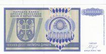 Bosnie-Herzégovine 10.000.000 Dinara 1993 - Aigle à 2 têtes - P.144- Neuf