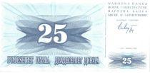 Bosnie-Herzégovine 25 Dinara - Armoiries - 1992